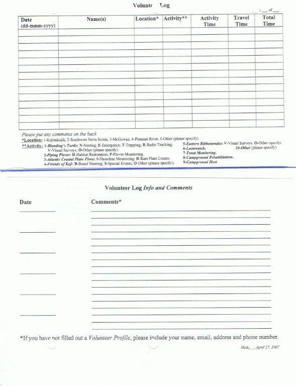 logbook form